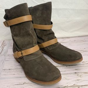 Zara / Slouchy Belted Leather Boots